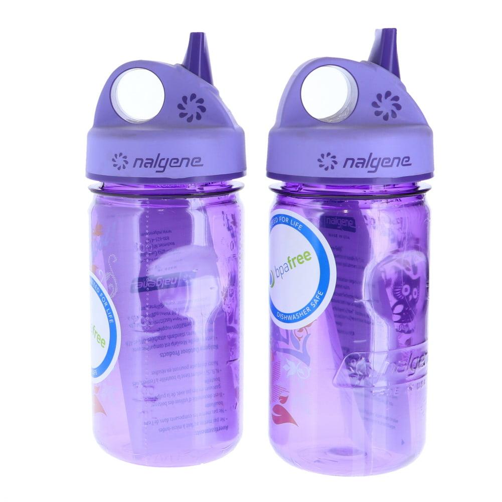 Nalgene Grip N Gulp Bot 2-Pk Hoot Purple Unisex Sports Water Bottles