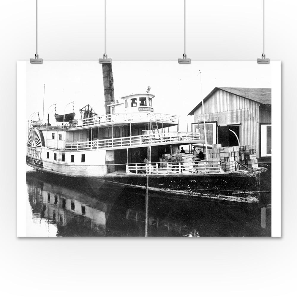 Lantern Press Pilot Boy Steamer Photograph (36x54 Giclee ...