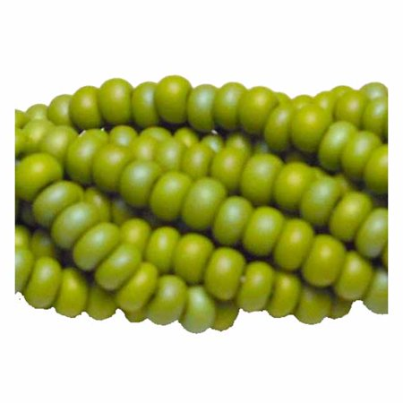 - Olive Opaque Matte Ab Preciosa Czech Glass 6/0, Loose Seed Beads, on Loose Strung 6 String Hank