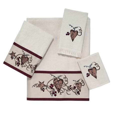 - Avanti Linens Hearts and Stars 4 Piece Cotton Towel Set