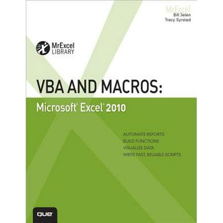 VBA and Macros : Microsoft Excel 2010