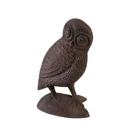Owl Door Stopper, Door Stoppers Decorative - Cast Iron, Bronze