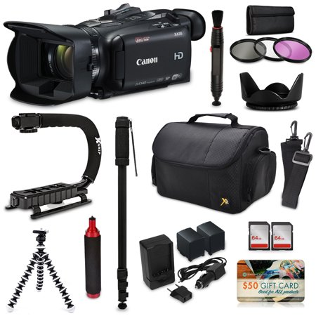 Canon XA35 HD Professional Video Camcorder + Action Kit with XGrip and HandGrip Handles + Bag + Extra Battery