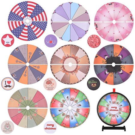 Winspintrade 8 Pcs 18 Prize Wheel Template Background Replacement