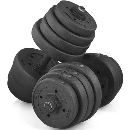 66LB Weight Adjustable Dumbbell Set Body Training Black