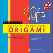"Folding Paper for Origami - Large 8 1/4"" - 49 Sheets : Tuttle Origami Paper: High-Quality Large Origami Sheets: Instructions for 6 Projects Included"