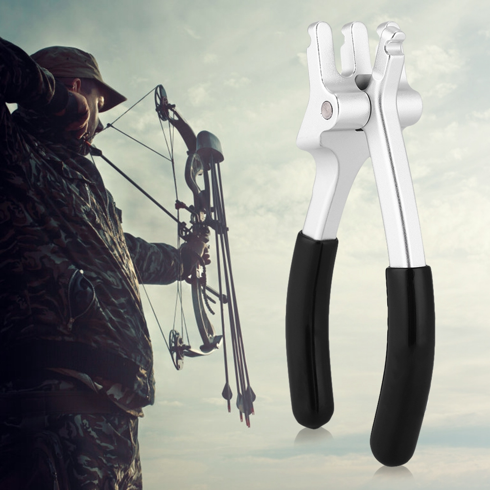 Aluminum Archery D Loop Plier Compound Bow Tool Outdoor Hunting Accessory