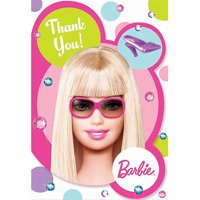Barbie All Doll'd Up Thank You Cards, 8-Pack