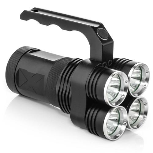 PRODUCT STOP NEW Black 3500 Lumens High Powered LED Rechargeable Spotlight Light