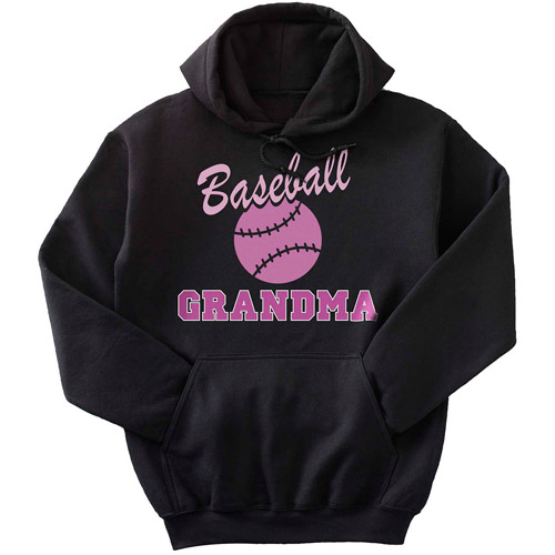 Personalized Sport Hoodie, Black with Pink Print, Extra-Large