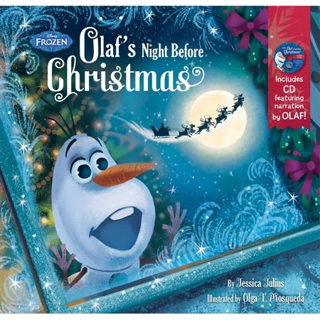 Frozen Olaf's Night Before Christmas Book & CD - The Night Before Christmas Sally