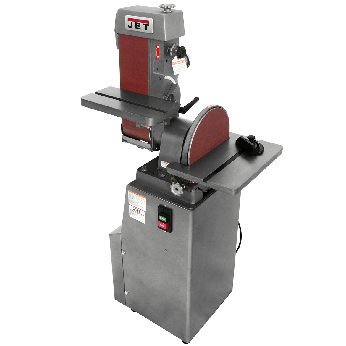 Jet J-4200A, 6 x 48 Industrial Combination Belt and Disc Finishing Machine 115V 1Ph (414551) by JPW Industries