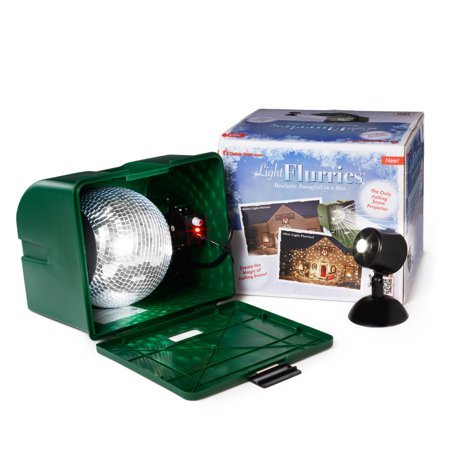 Light Flurries LED Projector- Realistic Moving Snow Flakes - The Original Real Motion Star Shower Effect - Outdoor Home Decorations - #1 Magic Laser Exterior Décor Idea for Christmas - Holiday - Party