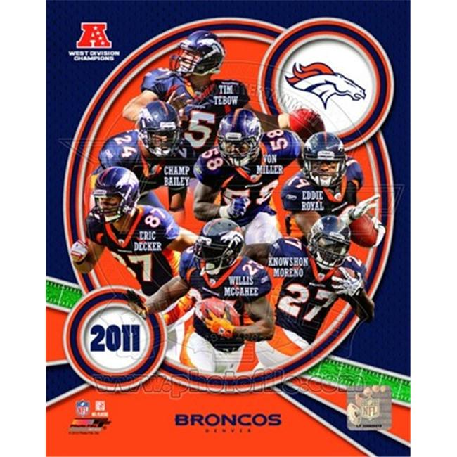 Photofile PFSAAOK13201 Denver Broncos 2011 AFC West Division Champions Team Composite Poster by Unknown -8. 00 x 10. 00