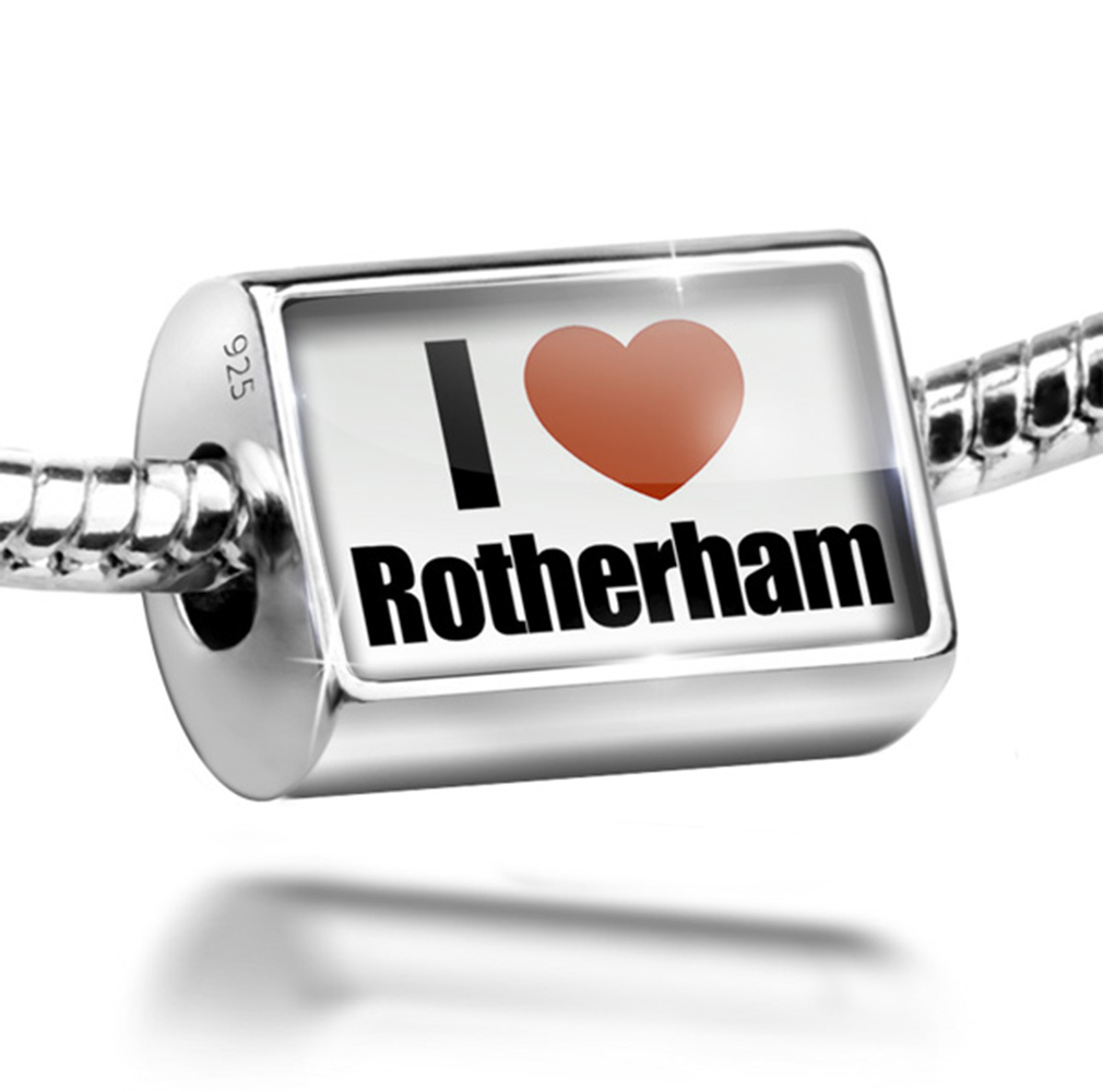 Bead I Love Rotherham region: Yorkshire and the Humber, England Charm Fits All European Bracelets