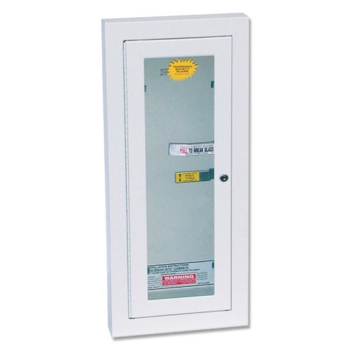 Kidde Safety Potter Roemer Semi-Recessed Fire Extinguisher Cabinet with Lock