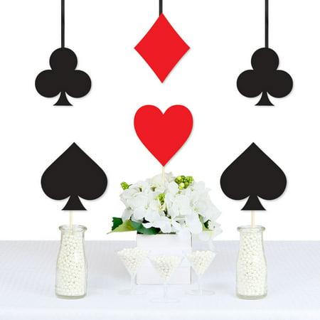 Las Vegas - Card Suits Decorations DIY Casino Party Essentials - Set of 20 - Las Vegas Decorations
