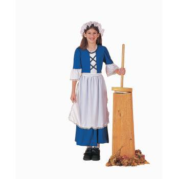 COSTUME-CH.COLONIAL GIRL SMALL - Girls Blue Butterfly Costume