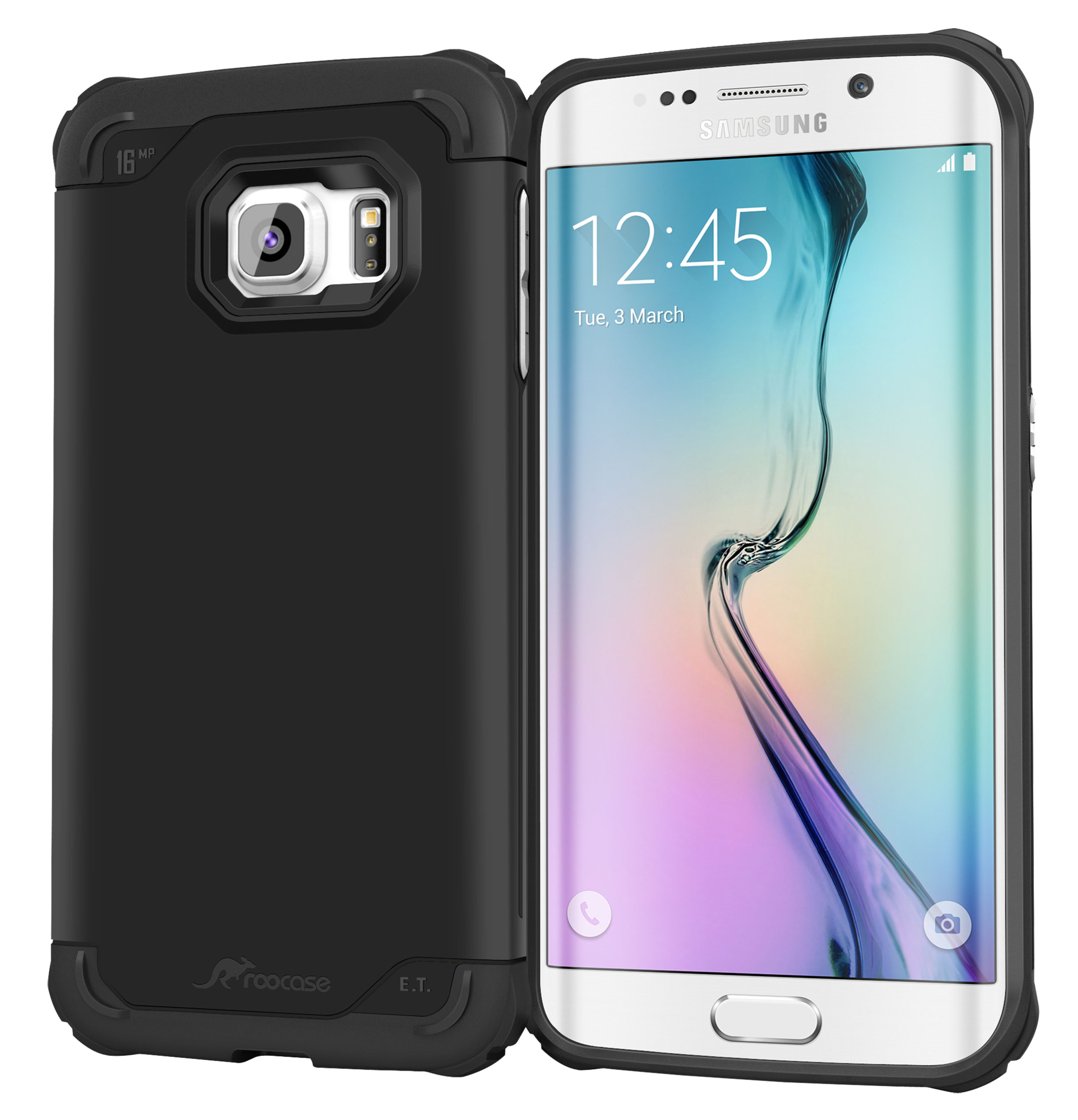 Galaxy S6 Edge Case, roocase [Exec Tough] Galaxy S6 Edge Slim Fit Case Hybrid PC / TPU [Corner Protection] Armor Cover Case for Samsung Galaxy S6 Edge (2015)