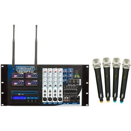 VocoPro PA-MAN II Four Channel Wireless All-In-One P.A. S...