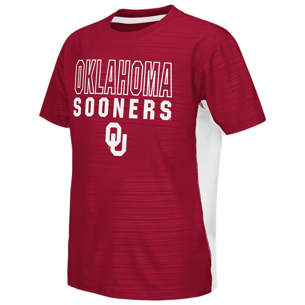 University of Oklahoma Sooners Youth Tee Performance Poly Logo T-Shirt