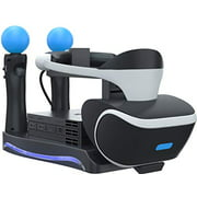 Skywin PSVR Stand - Charge, Showcase, and Display your PS4 VR Headset and Processor - Compatible with Playstation 4 PSVR - Sh
