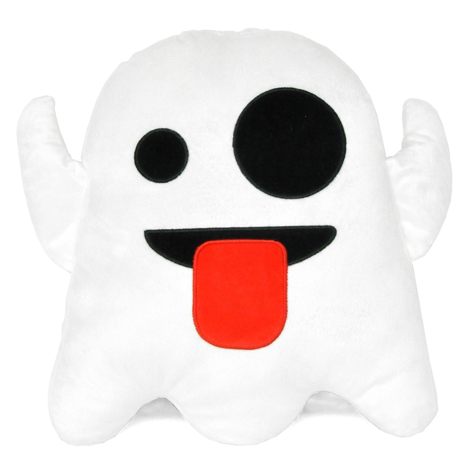 EmojiPals Silly Face Ghost Pillow
