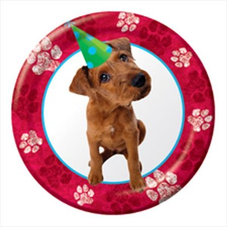 Puppy Party Small Paper Plates
