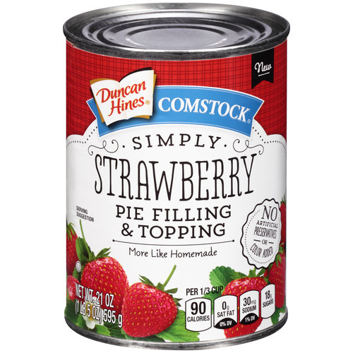 Duncan Hines Comstock Pie Filling & Topping Simply Strawberry, 21.0 OZ by Pinnacle Foods Group LLC.