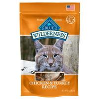 Blue Buffalo Wilderness Chicken & Turkey Soft-Moist Grain-Free Cat Treats, 2-oz bag