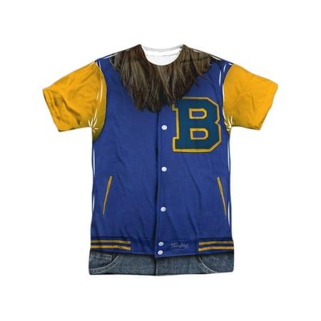 Teen Wolf Classic Film Beavers Varsity Jacket Costume Adult Front Print T-Shirt - Varsity Costumes