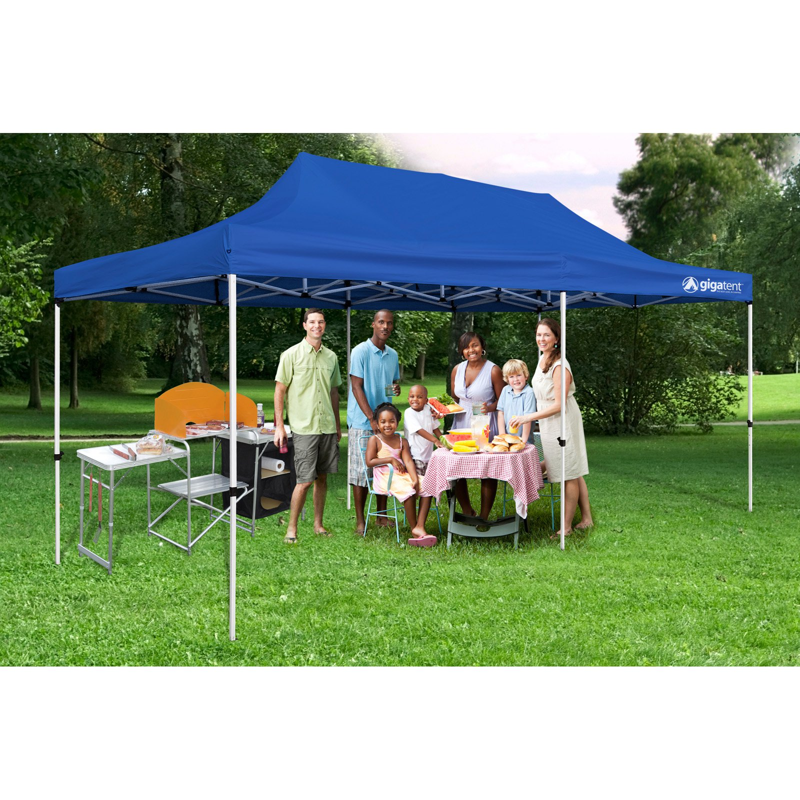 The Party Tent 10' x 20' Canopy, Solid Blue by Generic