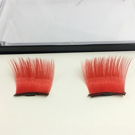 Crazy Fake Eyelashes Halloween (〖Follure〗4PC Crazy Halloween Colorful 3D Magnetic False Eyelashes Reusable Eye Lash)