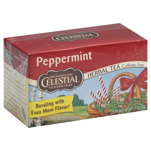 Celestial Seasonings Herbal Tea Peppermint Tea 20 Ct Walmartcom