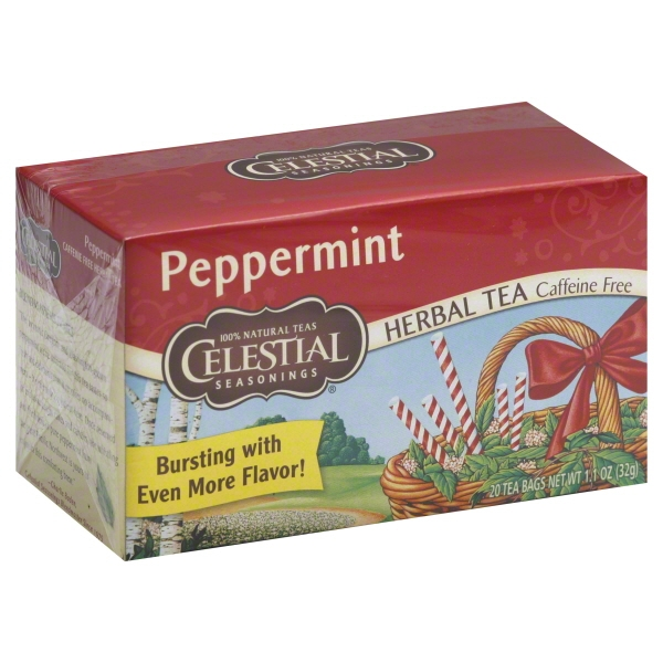 Celestial Seasonings Herbal Tea, Peppermint Tea, 20 Ct