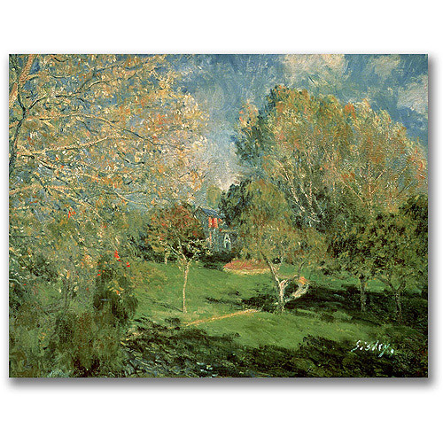"Trademark Fine Art ""The Garden of Hoschede Family"" Canvas Wall Art by Alfred Sisley"