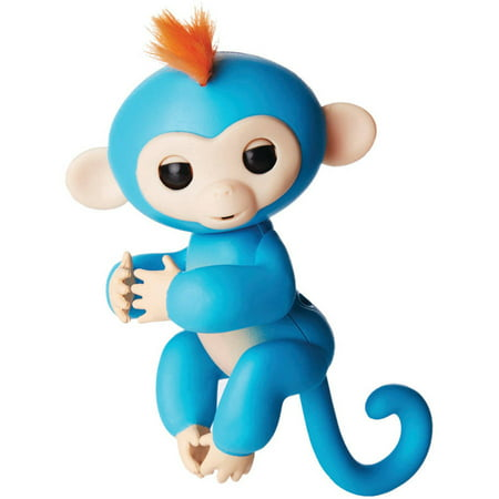 Fingerlings - Interactive Baby Monkey- Boris (Blue with Orange Hair) By WowWee