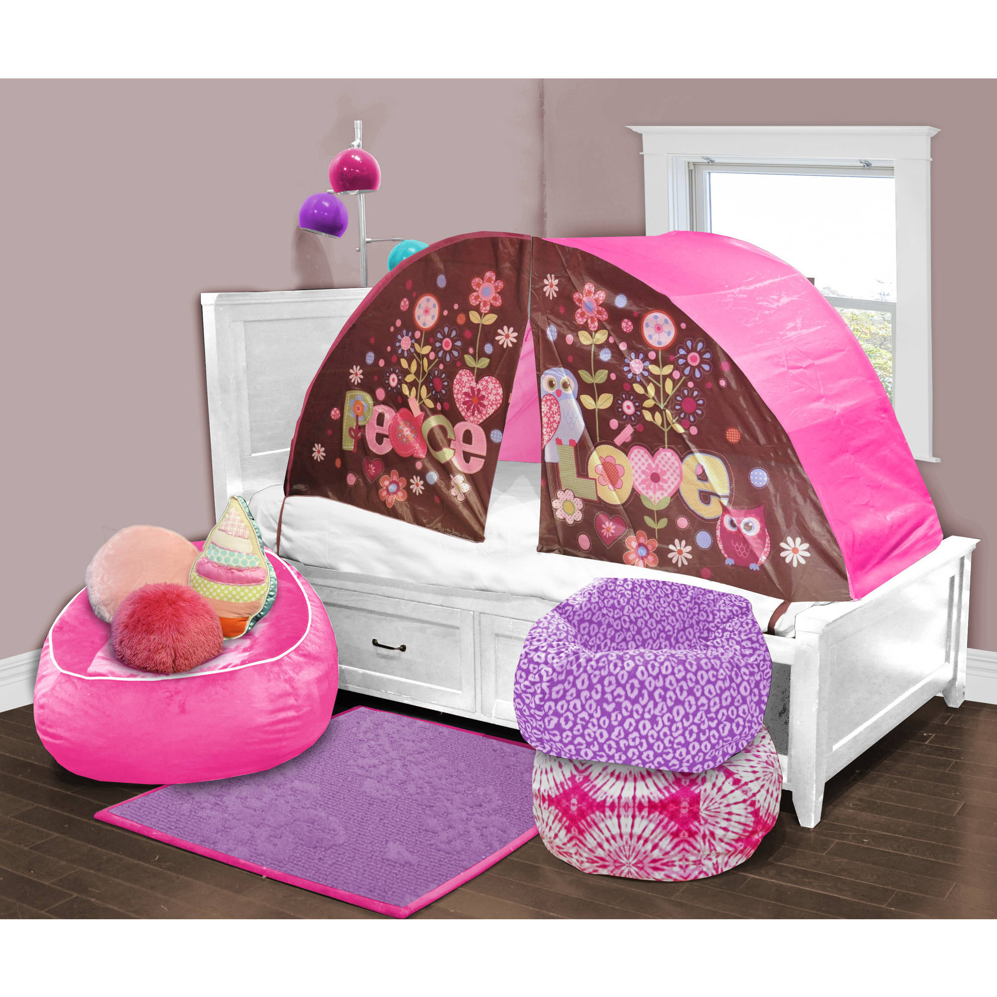 Kids Scene Owl Play Bed Tent