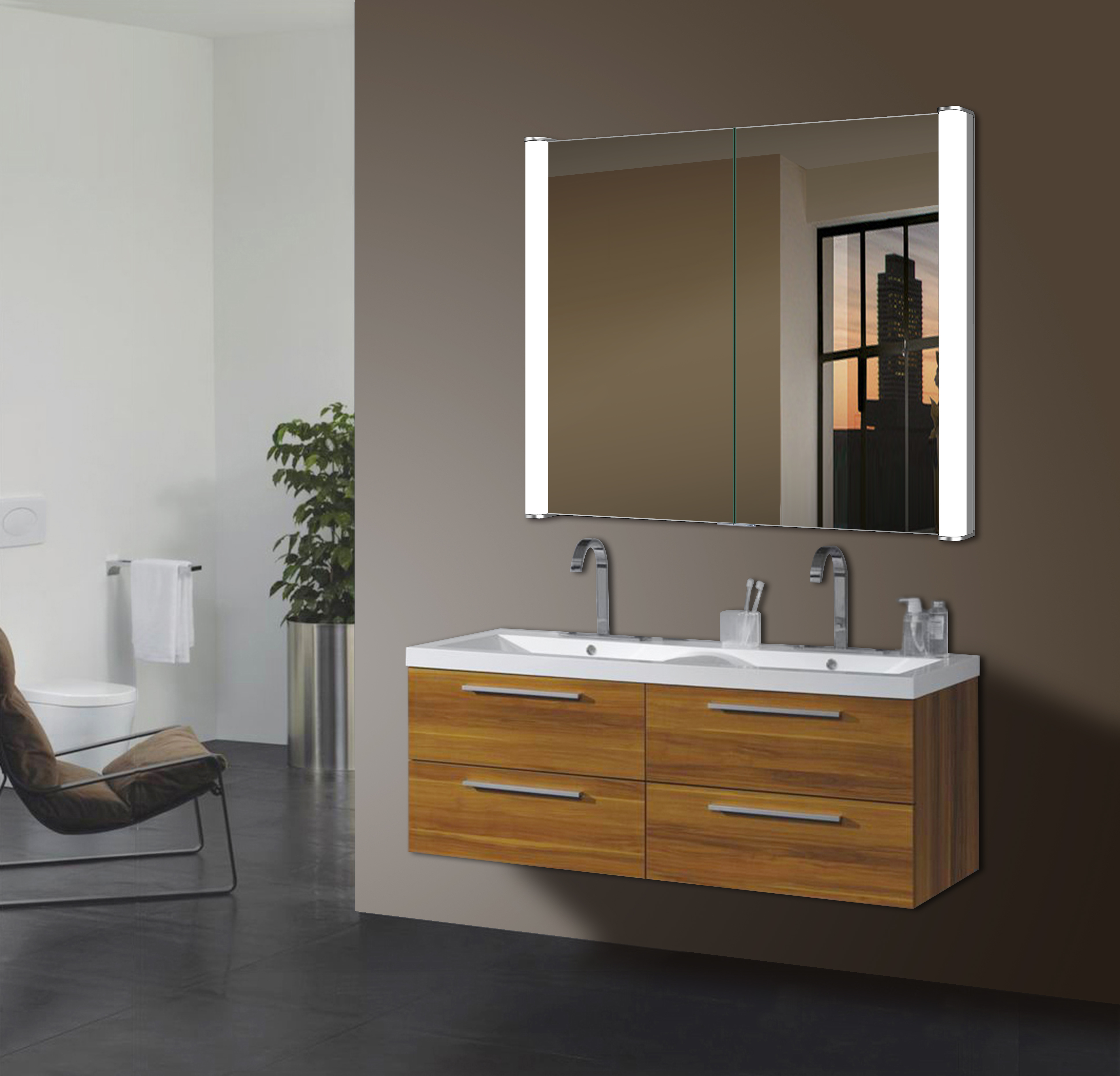Ace LED Bathroom Mirror Medicine Cabinet