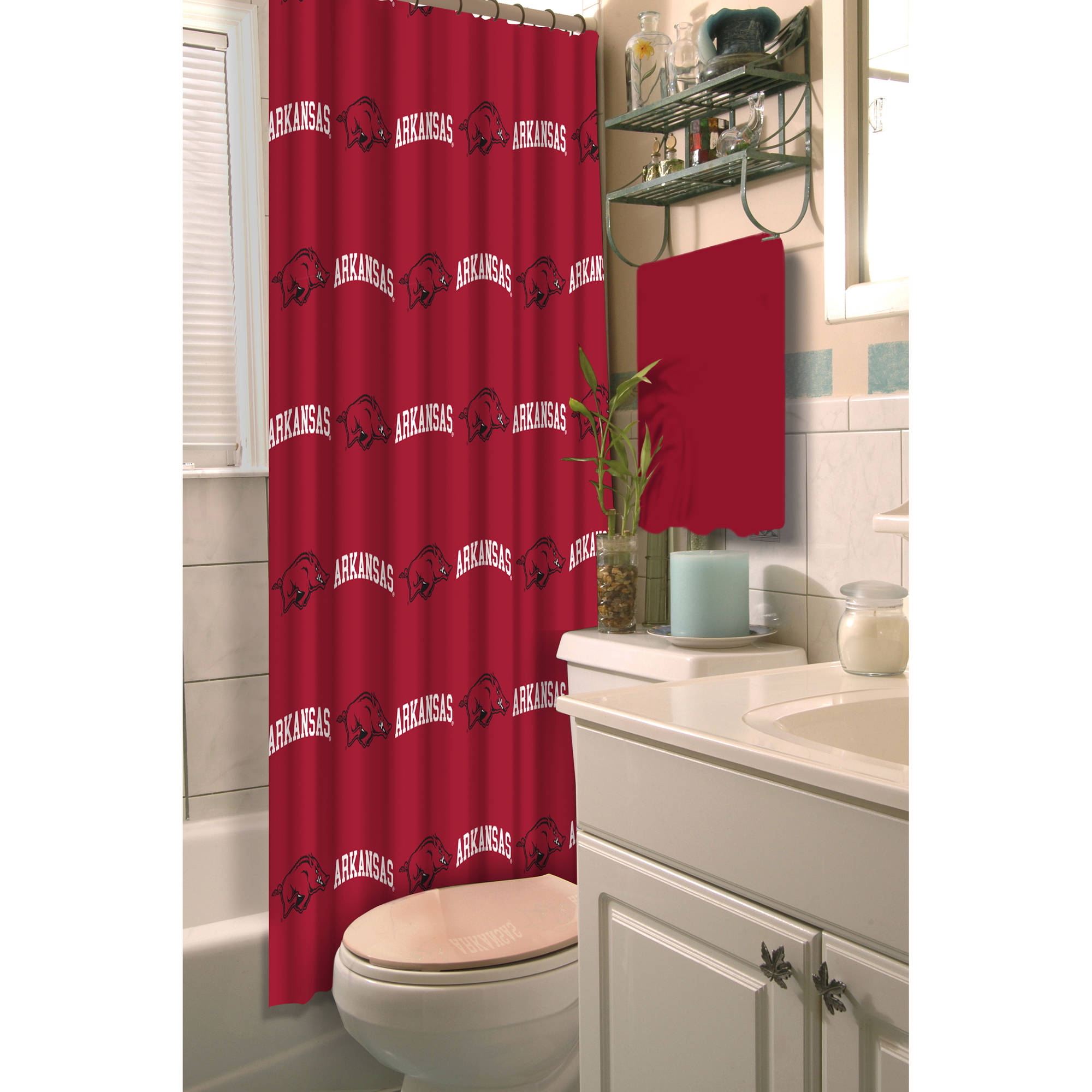 NCAA University of Arkansas Decorative Bath Collection - Shower Curtain