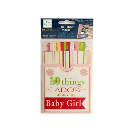 Bulk Buys Cg589 96 10 Things I Adore About My Baby Girl Journaling Pocket