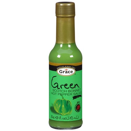 Grace Green Scotch Bonnet Hot Pepper Sauce, 4.8