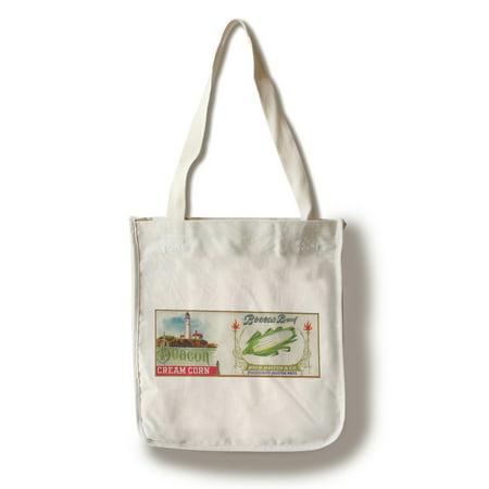 Beacon Corn Label  100  Cotton Tote Bag   Reusable