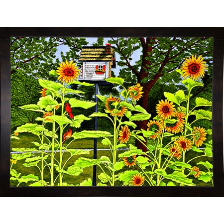 Sunflowers And Birdhouse-THEWIN90568 Print 16