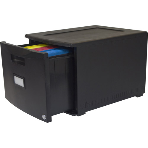 Storex Single-Drawer Mini File Cabinet with Lock, Legal/Letter ...