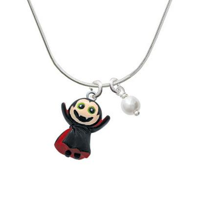 Resin Vampire - Imitation Pearl Bicone Crystal Necklace