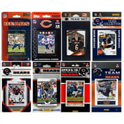 CandICollectables BEARS814TS NFL Chicago Bears 8 Different Licensed Trading Card Team Sets