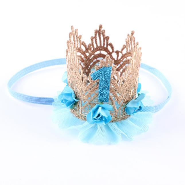 Outtop Fashion Girl Head Accessories Hairband Baby Elastic Flower Crown Lace Headwear