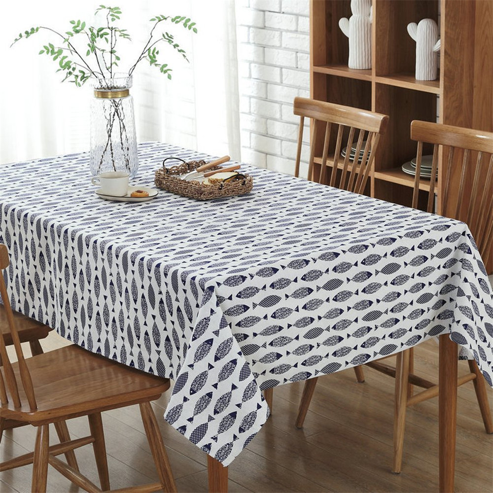 3D Printing Tablecloth Decorative Washable Rectangular Table Cover Home Kitchen