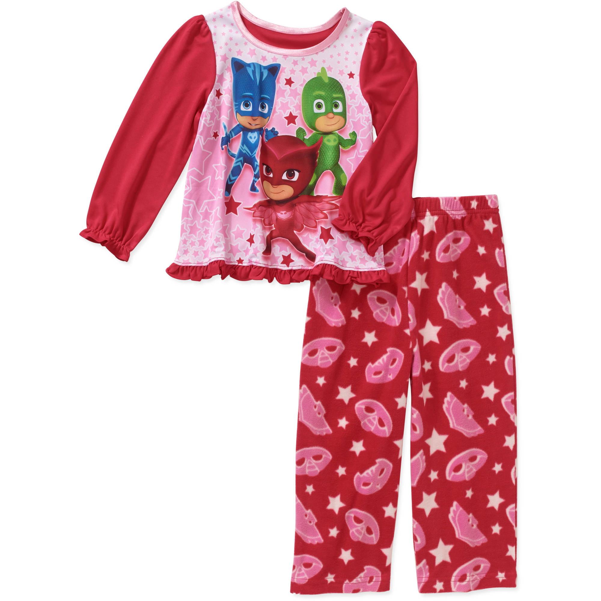 PJ Masks Toddler Girl Long Sleeve Top with Fleece Pants ...